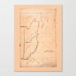 British Honduras Map (Belize) circa 1867 Canvas Print