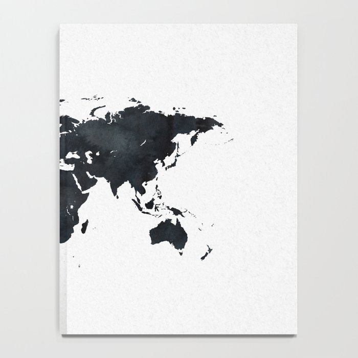 World map in black and white ink on paper notebook by naturemagick world map in black and white ink on paper notebook gumiabroncs Images