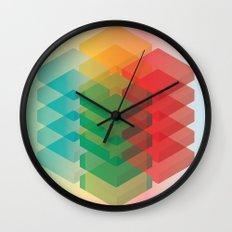 Color Cubes Wall Clock