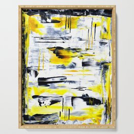 Bumble Bee Abstraction Serving Tray
