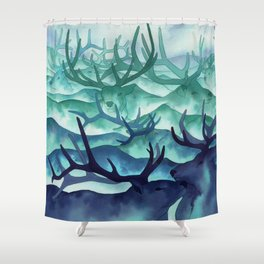 Herding Mountains Shower Curtain