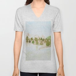 Pines and mountains Unisex V-Neck