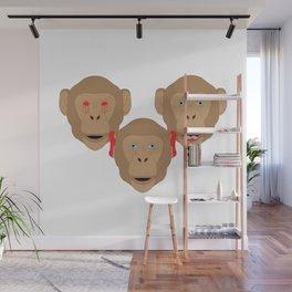 Three Wise Monkeys Wall Mural