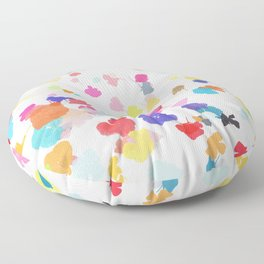 pressed flowers 1 Floor Pillow