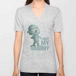 Mummy - Drawlloween2018 Unisex V-Neck