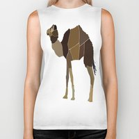 camel Biker Tanks featuring Camel by ANIMALS + BLACK