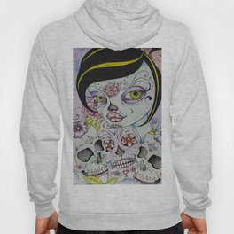 Lady Calavera - Day of the Dead Girl Pin Up Art Hoody