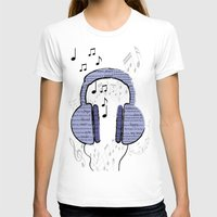music notes T-shirts featuring Music by LCMedia