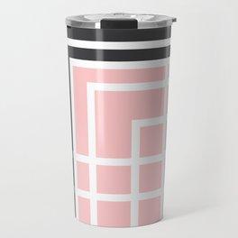 Square - Pink and Grey Travel Mug