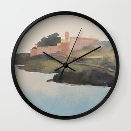 Watercolor of Lipari Island, Italy  Wall Clock
