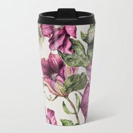 Purple Flowers 3 Travel Mug
