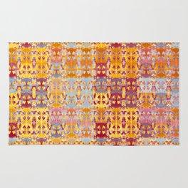Retro African Textile Warm Tones Rug