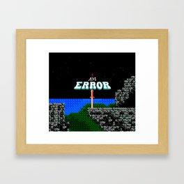 Adventures of Link - I Am Error Framed Art Print