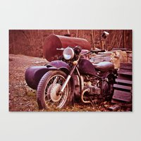 moto Canvas Prints featuring Vintage Moto by Eduard Leasa Photography