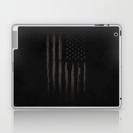 Black American flag Laptop & iPad Skin