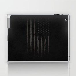 Black American flag Laptop & iPad Skin