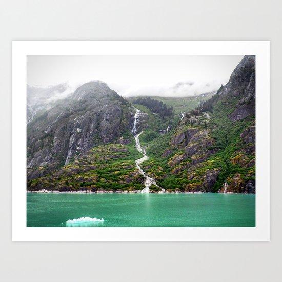 Mountainside Waterfall Art Print