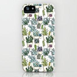 Tiny Cactus Succulents Cacti iPhone Case