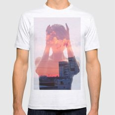 Insideout 8. Mind Pollution SMALL Ash Grey Mens Fitted Tee