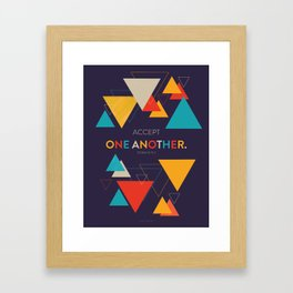 One Another Scripture Poster (Romans 15) Framed Art Print