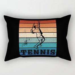 Tennis player in retro colors Rectangular Pillow