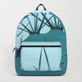 Teal Cactus Close-up Design Backpack