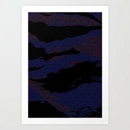 Dot Tiger Camouflage Art Print
