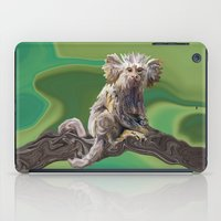 psychadelic iPad Cases featuring Melanie's Marmoset by Distortion Art
