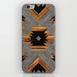 Urban Tribal Pattern 6 - Aztec - Concrete and Wood iPhone Skin
