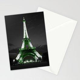 Paris Night Green Stationery Cards