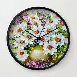 Chamomile Wall Clock