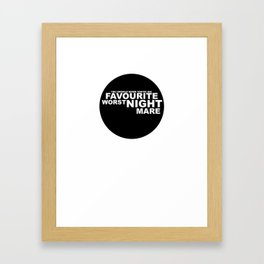 favourite worst nightmare Framed Art Print