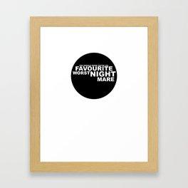 favourite worst nightmare Framed Art Print