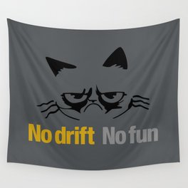 No drift No fun v1 HQvector Wall Tapestry