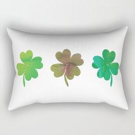 Lucky Watercolor Clovers Rectangular Pillow