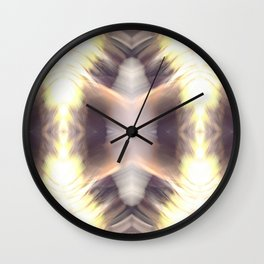 Abstract Feathered Print Wall Clock