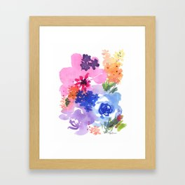 Pastel Bouquet Framed Art Print
