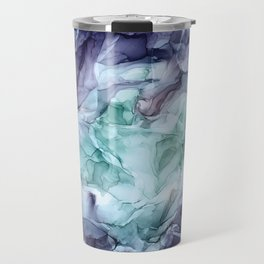 Growth- Abstract Botanical Fluid Art Painting Travel Mug