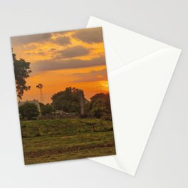 1296 - June Sunset (texture edit) Stationery Cards