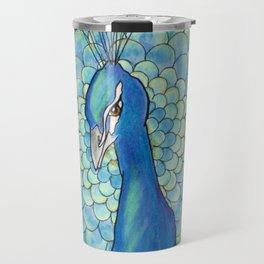 Peacock Mandala Travel Mug