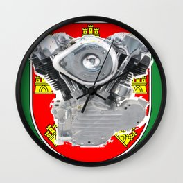 Shield of Portugal Knuckle Wall Clock