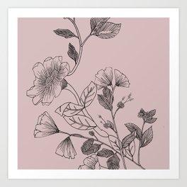 Botani Line II Art Print