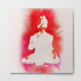 Buddha in White Metal Print
