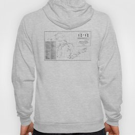 Vintage Map of Shipwrecks of the Great Lakes Hoody