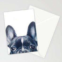 FrenchBulldog 2 Dog illustration original painting print Stationery Cards