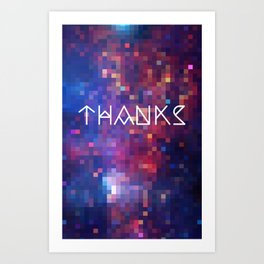 Galactic Squares #1 Thank You Card Art Print