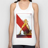 kindle Tank Tops featuring Femme Fatale by garciarts