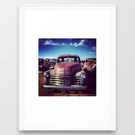 Vintage Rusty Car Framed Art Print