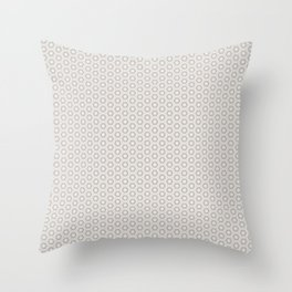 Hexagon Light Gray Pattern Throw Pillow