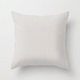 Hexagon Light Gray Pattern Throw Pillow